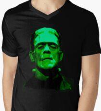 Frankenstein Monster Artwork Men's V-Neck T-Shirt