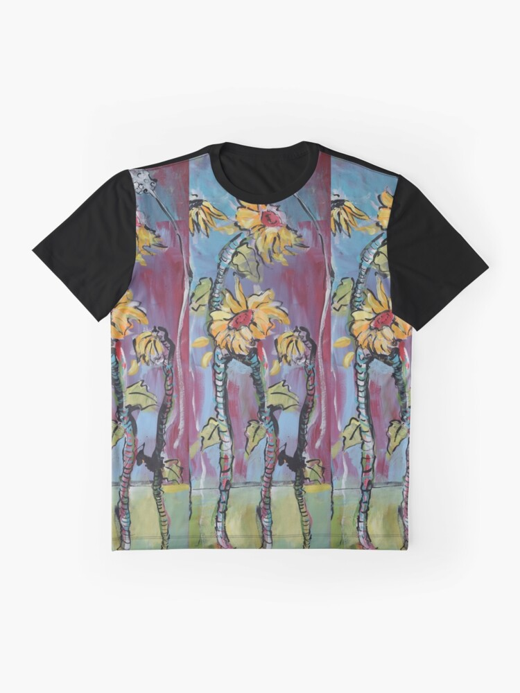 Alternate view of Dreamy Sunflowers Graphic T-Shirt