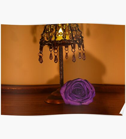 Rose by Candlelight Poster