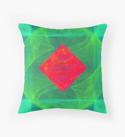 Antiquarian Pulsar infrared #fractal art Throw Pillow
