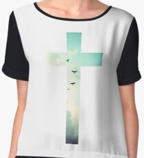 Christian Cross Women's Chiffon Top