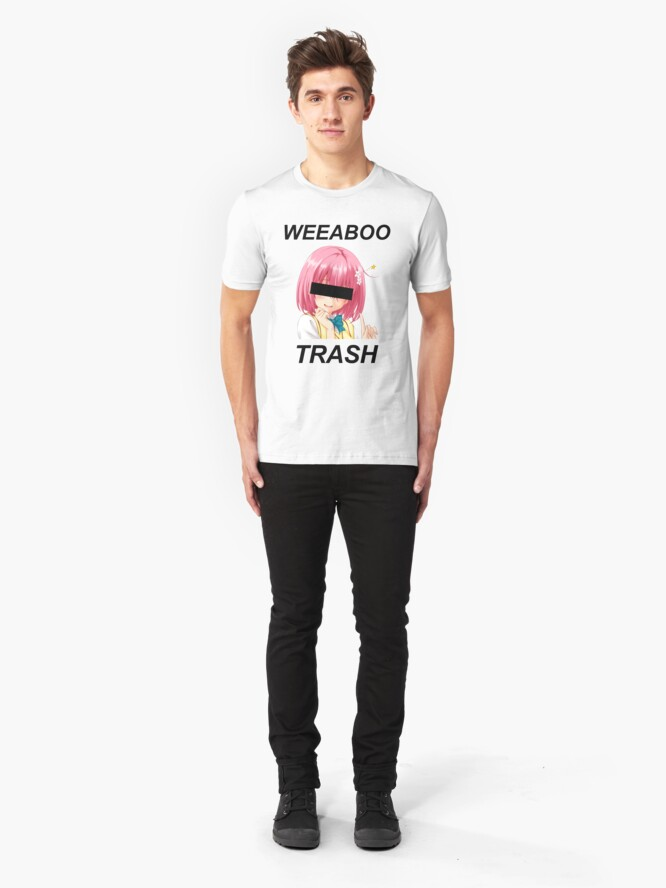 Alternate view of weeaboo trash Slim Fit T-Shirt