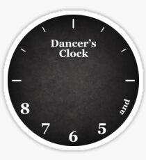 Dancer's Clock Sticker