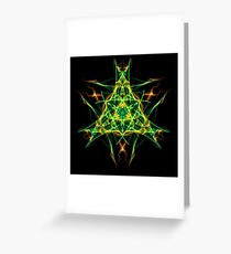Energetic Geometry-  Abstract Pentacle Symbol for Earthen Connection Greeting Card