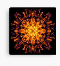 Energetic Geometry - Abstract Solar Power Symbol Canvas Print