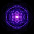 Energetic Geometry - Indigo Prayers by Leah McNeir
