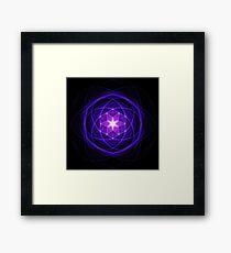 Energetic Geometry - Indigo Prayers Framed Print