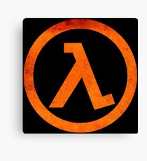 °GEEK° Half Life Rust Logo Canvas Print