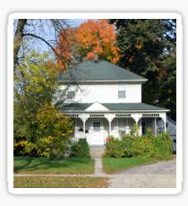 Old White House in Autumn Sticker