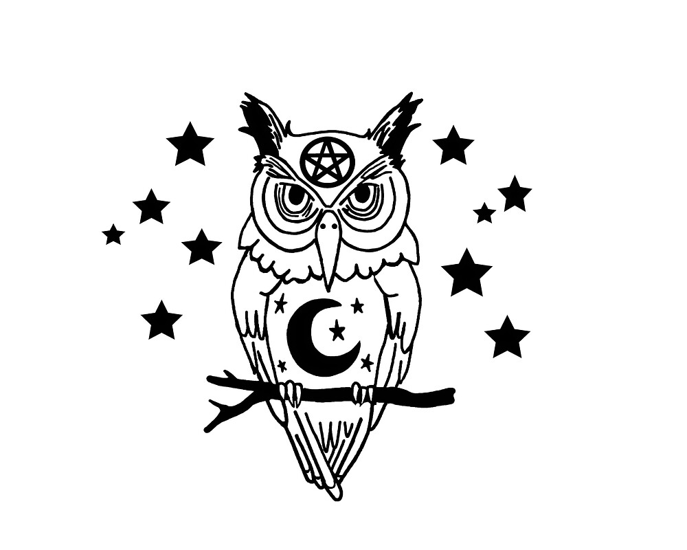 Pagan Owl with Stars by imphavok