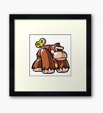 Donkey Kong Toy Framed Print