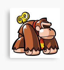 Donkey Kong Toy Canvas Print