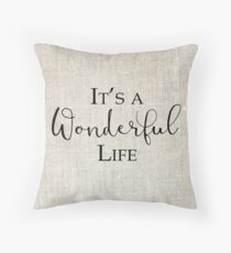 Its a Wonderful Life, Christmas Throw Pillow