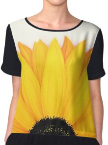 Big Sunflower Summer Sunshine Yellow Chiffon Top