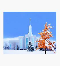Mt. Timpanogos Temple Early Snow 20x24 Photographic Print
