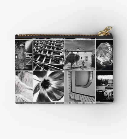 Black and White Mosaic Studio Pouch