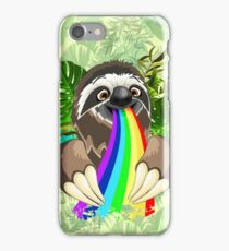 Sloth Spitting Rainbow Colors iPhone Case/Skin
