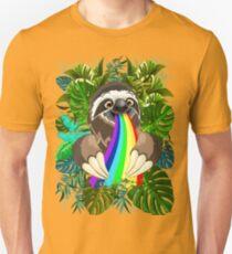 Sloth Spitting Rainbow Colors Unisex T-Shirt
