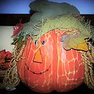 Pumpkin in a straw hat by ♥⊱ B. Randi Bailey