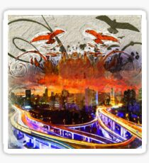 Cityscape Abstract Sticker
