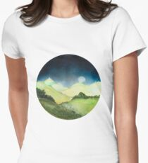 Land Maan Land Moon Womens Fitted T-Shirt