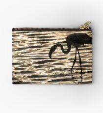 Flamingo in Walvis Bay, Namibia Studio Pouch