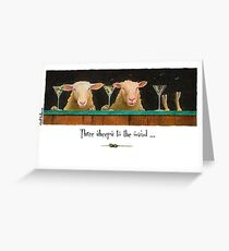 "Will Bullas card ""three sheeps to the wind"" Greeting Card"