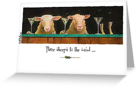 Will Bullas card / three sheeps to the wind by Will Bullas