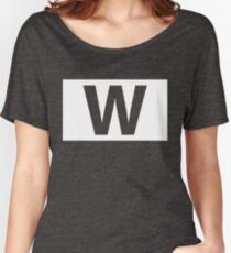 Chicago Cubs Majestic W Flag Women's Relaxed Fit T-Shirt
