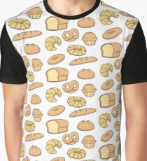 All Types of Bread Pattern Graphic T-Shirt