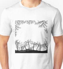 Décors Halloween, arbres, silhouettes Unisex T-Shirt