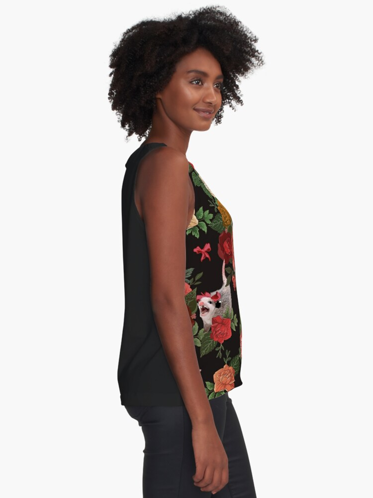 Alternate view of Opossum floral pattern Sleeveless Top