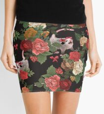 Opossum floral pattern Mini Skirt