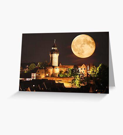 Moon over NBG Greeting Card