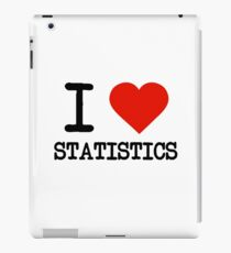 I Love Statistics iPad Case/Skin