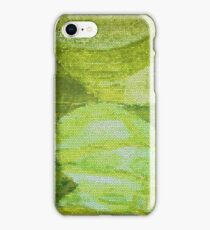 Greenish abstract theme from Eco Lass painting iPhone Case/Skin
