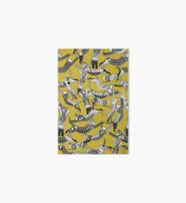 cat party ochre yellow Art Board