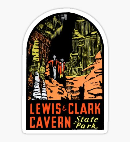 Lewis & Clark Cavern State Park Vintage Travel Decal Sticker