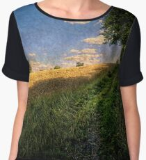 A Path By The Field Women's Chiffon Top