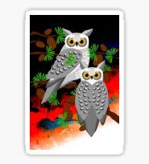 BushFire Grey Owls 3 Sticker