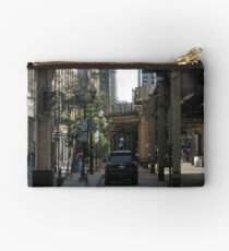 Big City Street on a Sunday Afternoon #1 Studio Pouch