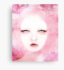 Aveira, a woman in red Canvas Print