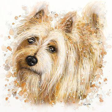 Australian terrier (Bella) by paintingsofi
