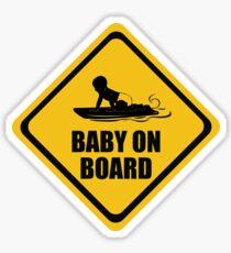 BodyBoarding Baby on Board Sticker