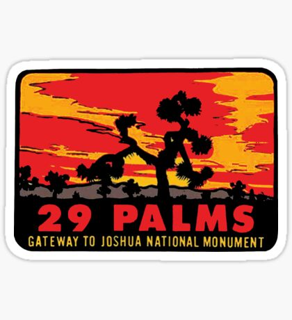 29 Palms Joshua Tree Vintage Travel Decal Sticker