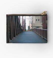 Walk Bridge Across the Chicago River Studio Pouch