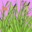 Butterflies in a Meadow by Jo Newman