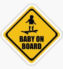 Skateboarding  Baby on Board (long board) Sticker