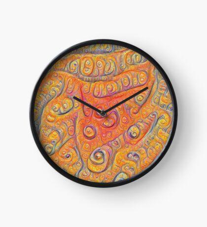 Orange #DeepDream Clock