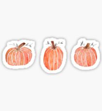 mini watercolor pumpkins Sticker